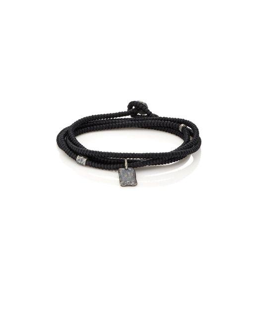 M. Cohen | Black Tag On Cord Wrap Bracelet | Lyst