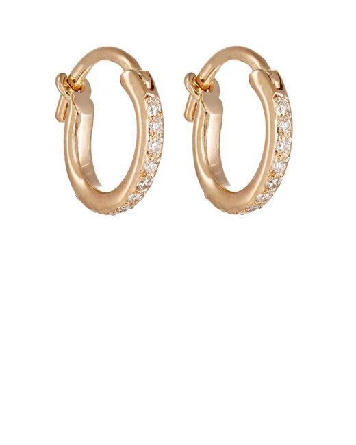 Ileana Makri - Metallic Huggie Hoop Earrings - Lyst
