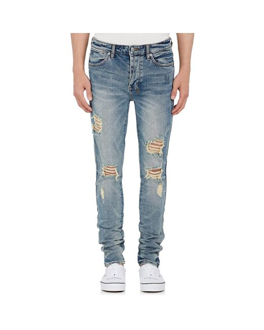 Ksubi | Blue Van Winkle Distressed Skinny Jeans for Men | Lyst