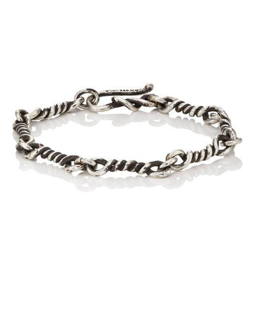 Dean Harris - Metallic Twisted-link Sterling Silver Bracelet for Men - Lyst