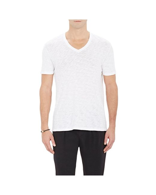 ATM - White Slub V-neck T for Men - Lyst