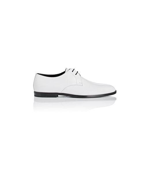 Saint Laurent | White Smoking Patent Leather Bluchers for Men | Lyst