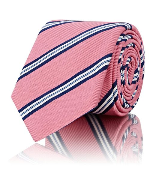 Barneys New York - Pink Striped Silk for Men - Lyst