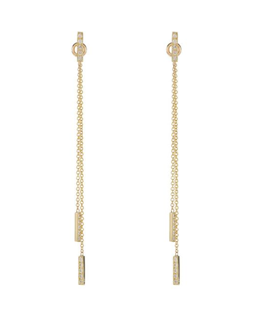 Jennifer Meyer - Metallic Threaded Bar Earrings - Lyst