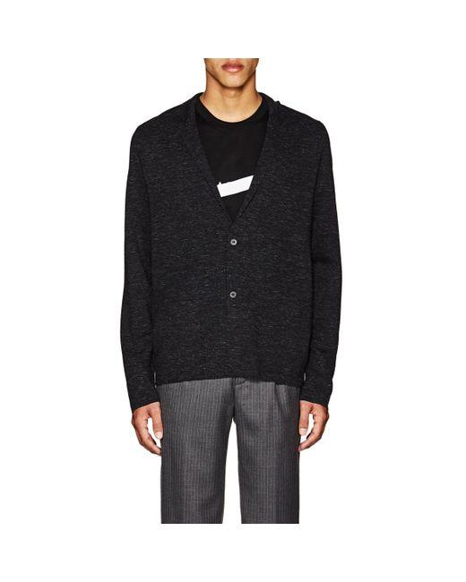 Lanvin - Multicolor Mélange Wool-blend Cardigan for Men - Lyst