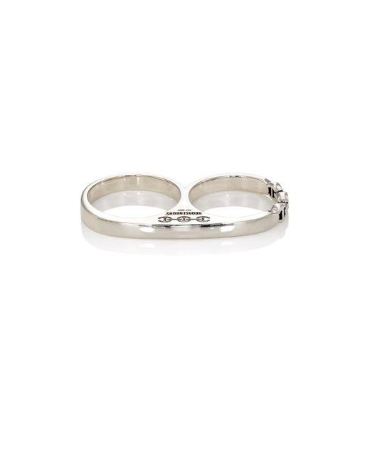 Hoorsenbuhs - Metallic Double-barrel Knuckle Ring for Men - Lyst