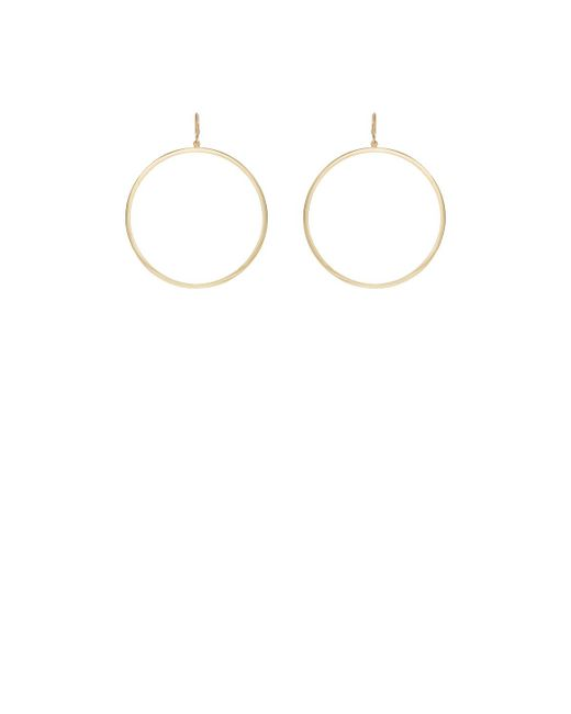 Jennifer Meyer | Metallic Open Circle Hoop Earrings | Lyst