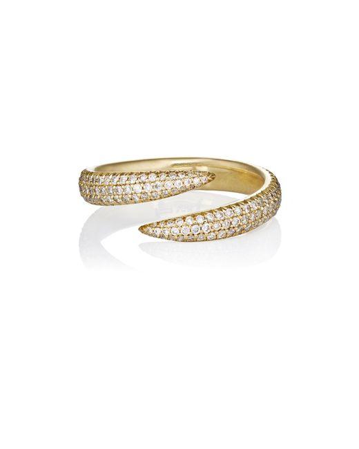 Eva Fehren - Metallic Pavé Wrap Claw Ring - Lyst