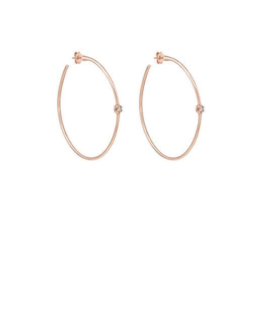 Carbon & Hyde - Metallic Rosette Hoop Earrings - Lyst