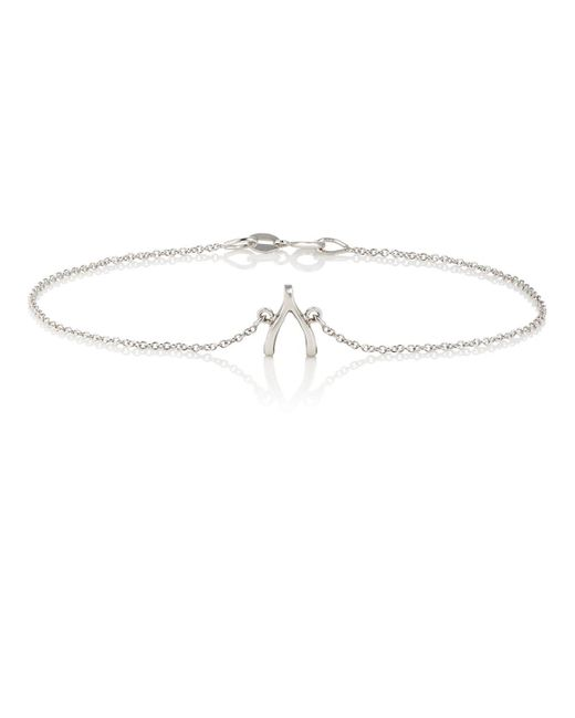 Jennifer Meyer - Metallic Wishbone Charm Bracelet - Lyst