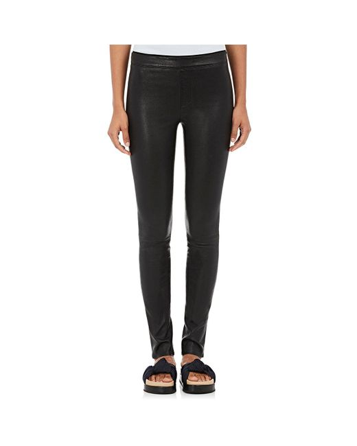 Helmut Lang | Black Stretch Leather Leggings | Lyst