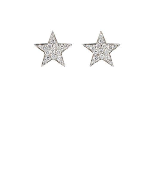 Finn | White Pavé Star Stud Earrings Size Na | Lyst