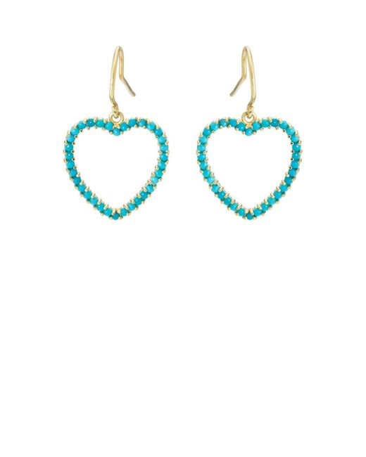 Jennifer Meyer - Blue Turquoise Large Open Heart Drop Earrings - Lyst