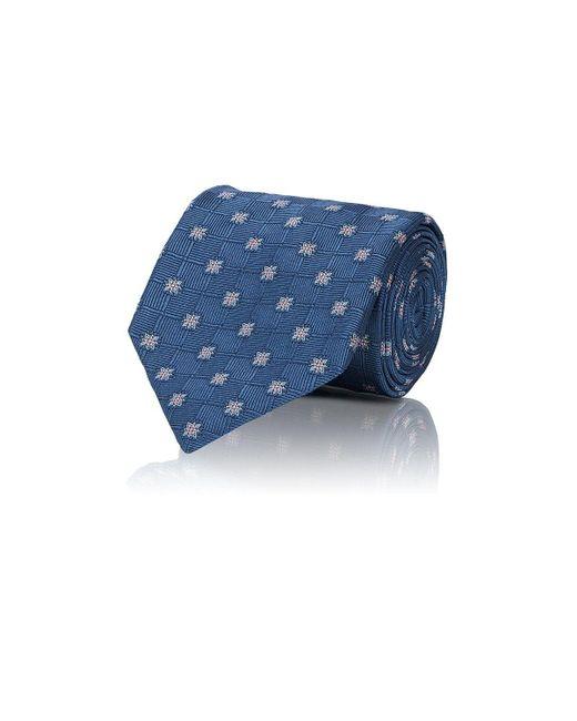 Brioni   Blue Floral Woven Silk Necktie for Men   Lyst