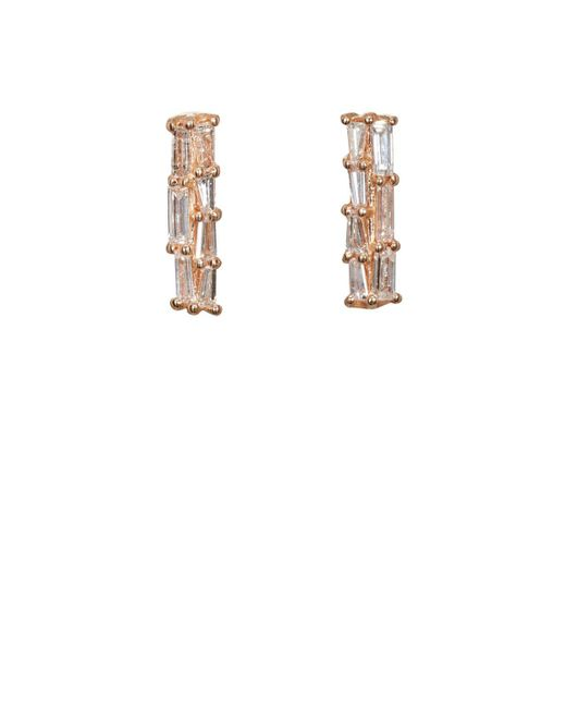 Nak Armstrong - White Diamond Bar Stud Earrings - Lyst