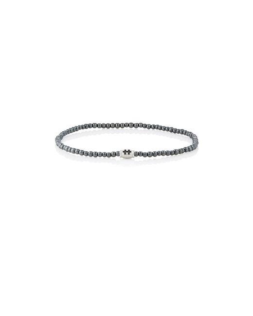 Luis Morais | Black Hematite Beaded Bracelet | Lyst