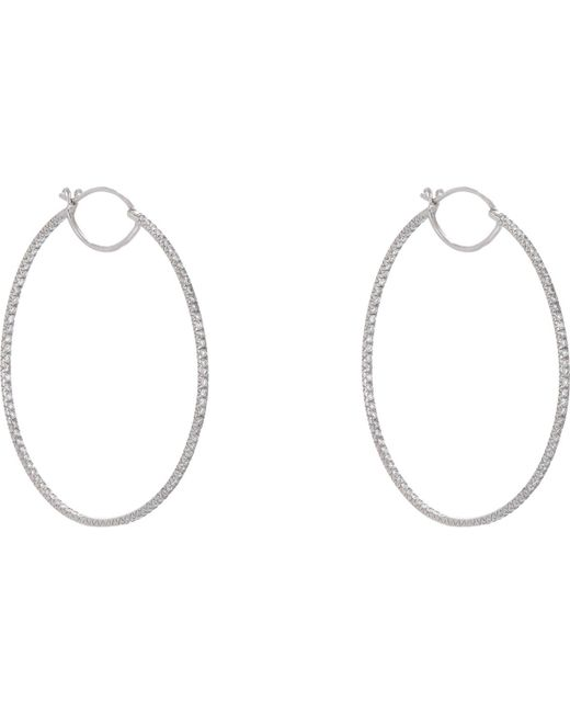 Cathy Waterman | Metallic Pavé Hoops | Lyst