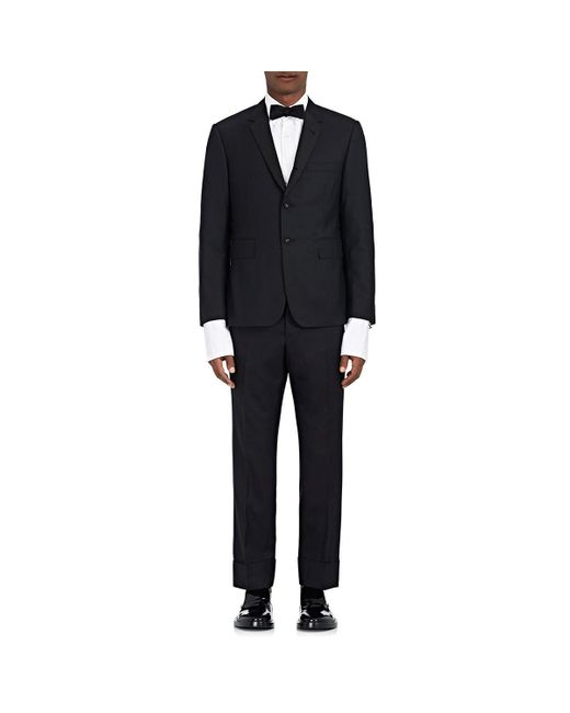 Thom Browne - Black High-armhole Wool Tuxedo & Bow Tie for Men - Lyst