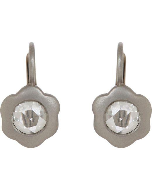Linda Lee Johnson - Metallic Diamond & Platinum La Chorus Memoire Earrings - Lyst