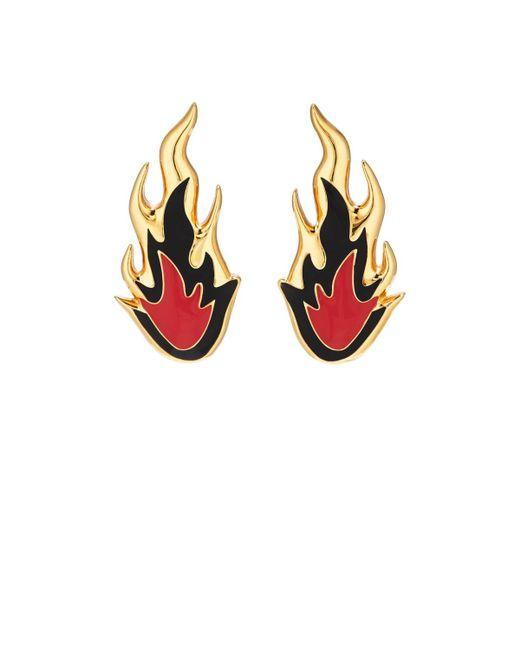 Ambush | Metallic Flame Stud Earrings | Lyst