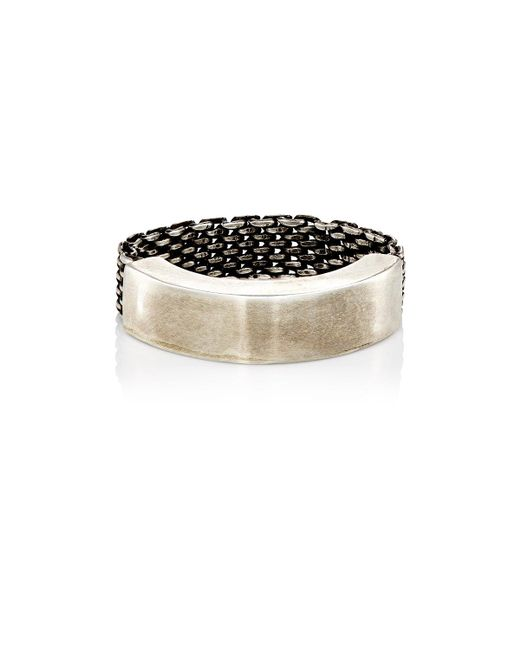 Title Of Work | Metallic Mesh To Cuff Ring for Men | Lyst