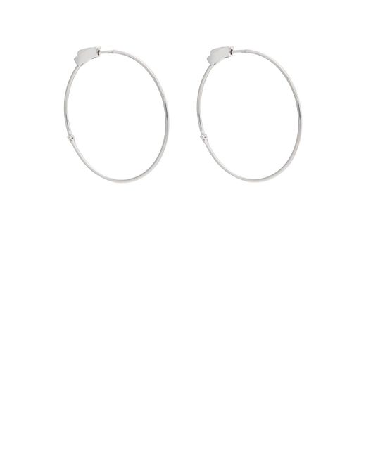 Jennifer Meyer - White Gold Hinged Hoop Earrings - Lyst