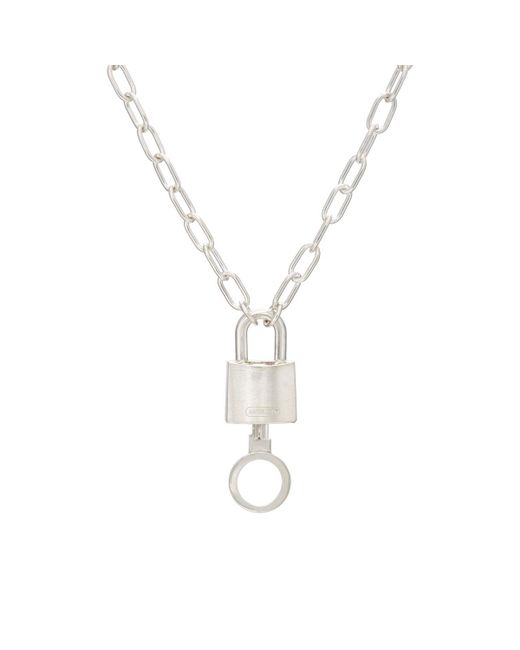 Ambush - Metallic Padlock Charm Necklace - Lyst