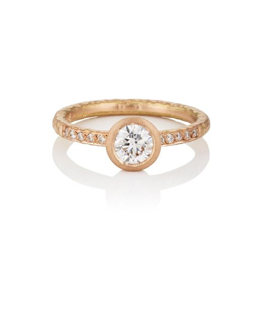 Malcolm Betts - Multicolor Round White Diamond Ring - Lyst