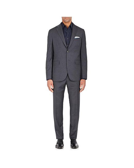 Boglioli - Gray Alton Striped Wool Two-button Suit for Men - Lyst