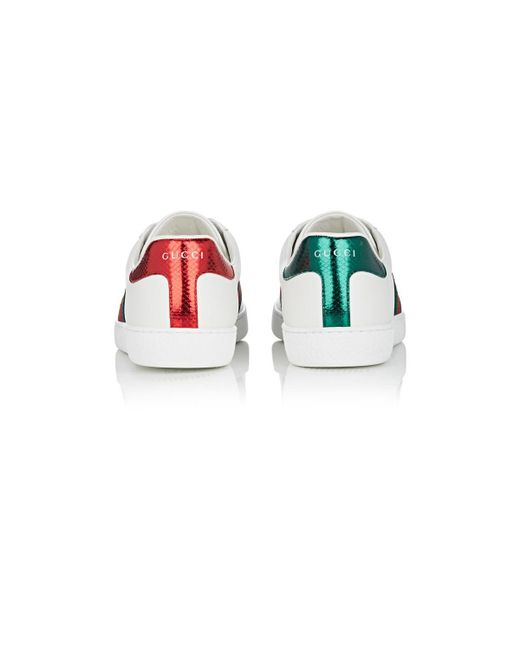 62229320a75 ... Gucci - White New Ace Leather Sneakers for Men - Lyst ...