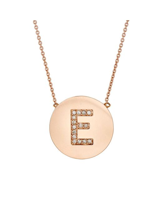 Jennifer Meyer - Pink Initial Pendant Necklace - Lyst