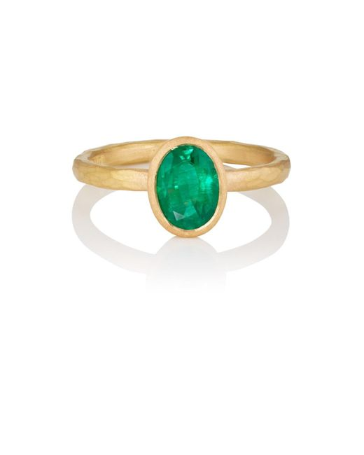 Malcolm Betts - Green Oval Emerald Ring - Lyst