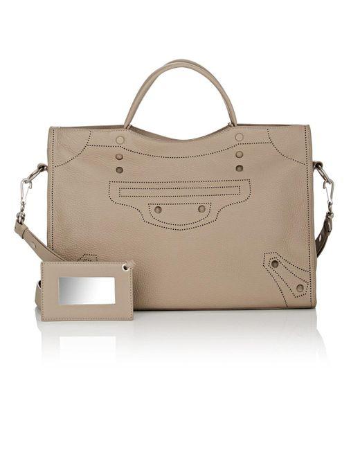 0a20dbb12a24 Balenciaga - Gray Blackout City Leather Bag - Lyst ...