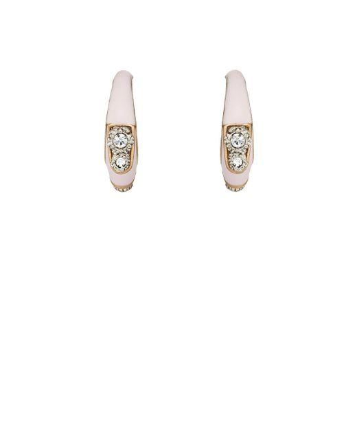 Maison Mayle - Metallic Twin Comet Hoop Earrings - Lyst