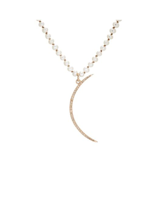 Feathered Soul | Metallic #crescent Pendant Necklace | Lyst