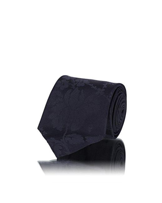 Alexander McQueen - Blue Floral Silk Faille Necktie for Men - Lyst
