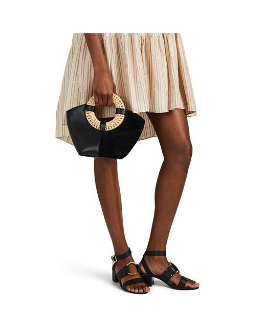 6b579a1e378 Lyst - Ulla Johnson Axis Leather   Suede Mini Tote Bag in Black