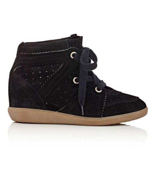 Isabel Marant - Black Bobby Suede Wedge Boots - Lyst