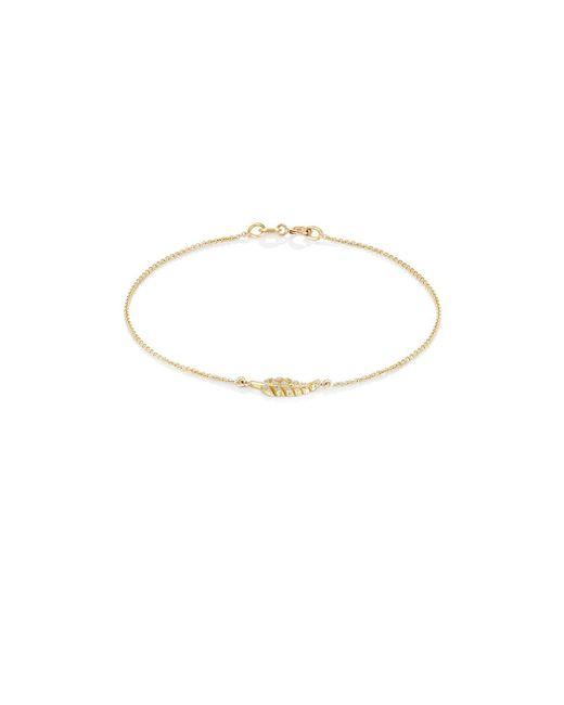 Jennifer Meyer | Multicolor Pavé Diamond Leaf Charm Bracelet | Lyst