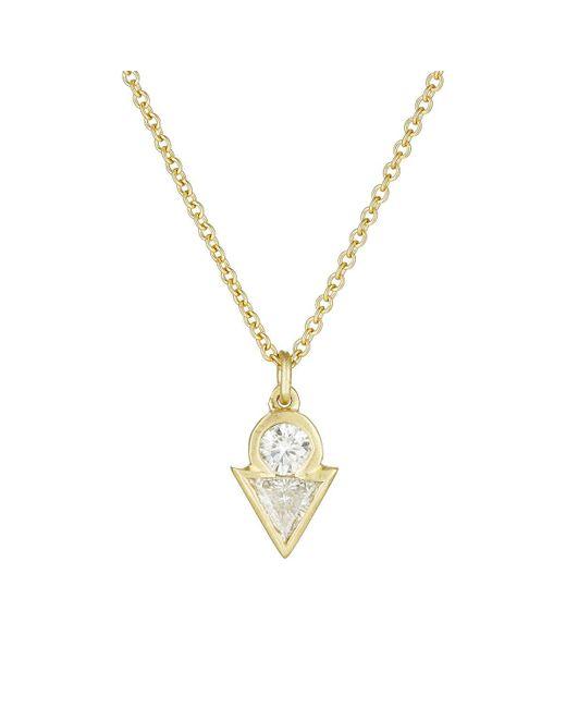 Tate | Metallic White Diamond Pendant Necklace | Lyst