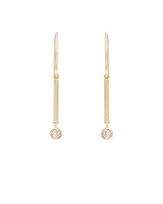 Jennifer Meyer - Metallic Diamond Bezel Mini Stick Drop Earrings - Lyst