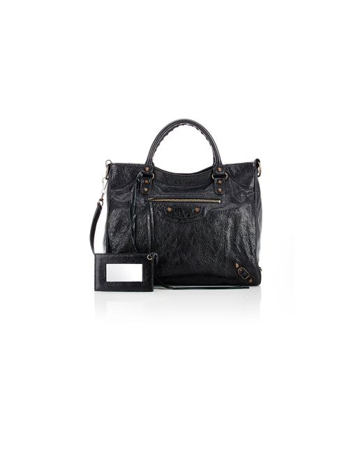 Balenciaga - Black Arena Leather Classic Velo Bag - Lyst