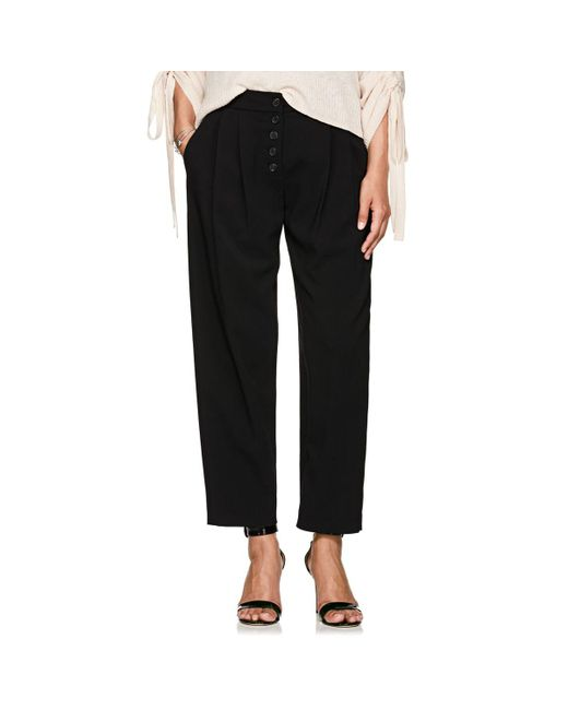 A.L.C. - Black Russel Crepe Pleated Trousers - Lyst