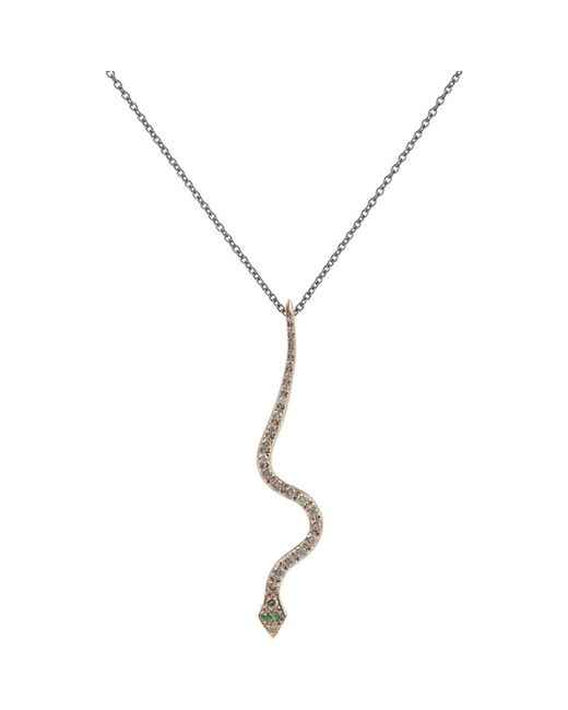Ileana Makri - Metallic Big Snake Pendant Necklace - Lyst