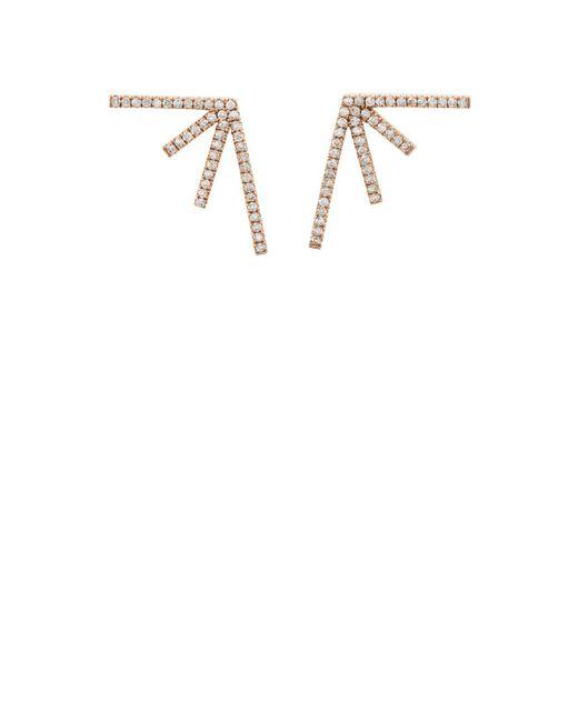 Eva Fehren - White Sputnik Stud Earrings - Lyst