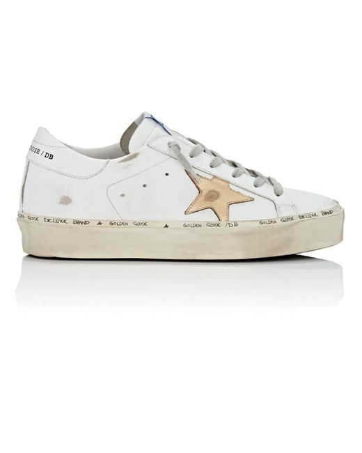 efa104b7c3a Lyst - Golden Goose Deluxe Brand Hi Star Leather Sneakers in White ...
