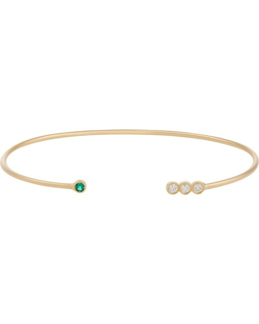 Jennie Kwon | Multicolor Gemstone Wire Cuff | Lyst