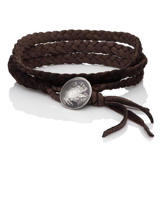 Feathered Soul - Brown #indiana Wrap Bracelet for Men - Lyst