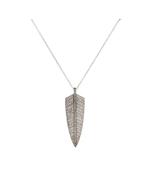 Feathered Soul - Metallic #shield Necklace - Lyst
