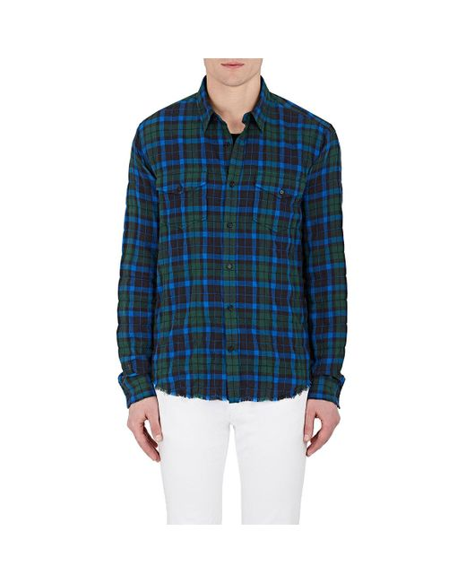 Vince | Green Plaid Cotton for Men | Lyst